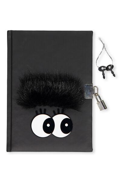A5 Lockable Notebook, BLACK EYES