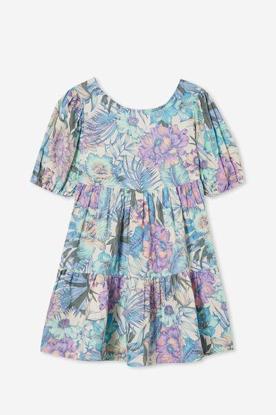 Georgia Short Sleeve Dress, TROPICAL FLORAL