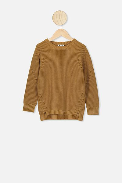 Blair Knit Crew, GOLDEN BROWN