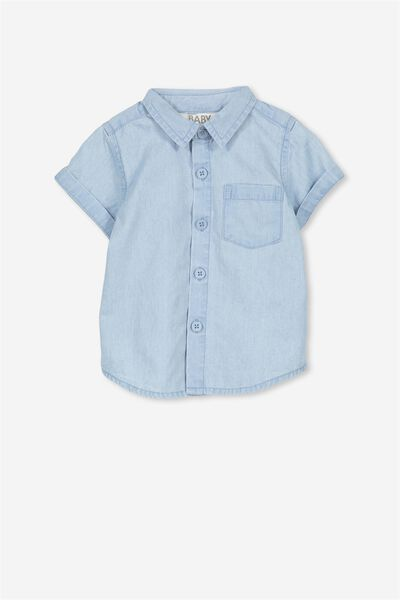 Zac Short Sleeve Shirt, CHAMBRAY BLUE