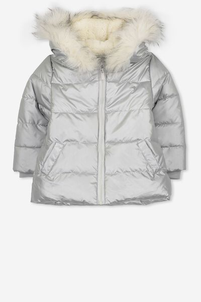 Laura Puffer Jacket, SILVER