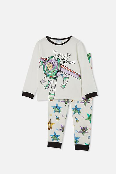 Orlando Long Sleeve Pyjama Set, LCN DIS BUZZ LIGHTYEAR VANILLA