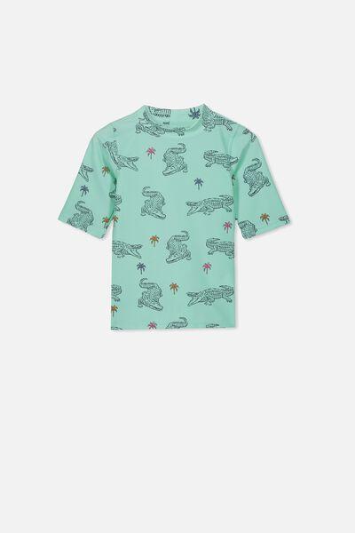 Fin Short Sleeve Rash Vest, YUCCA CROCS