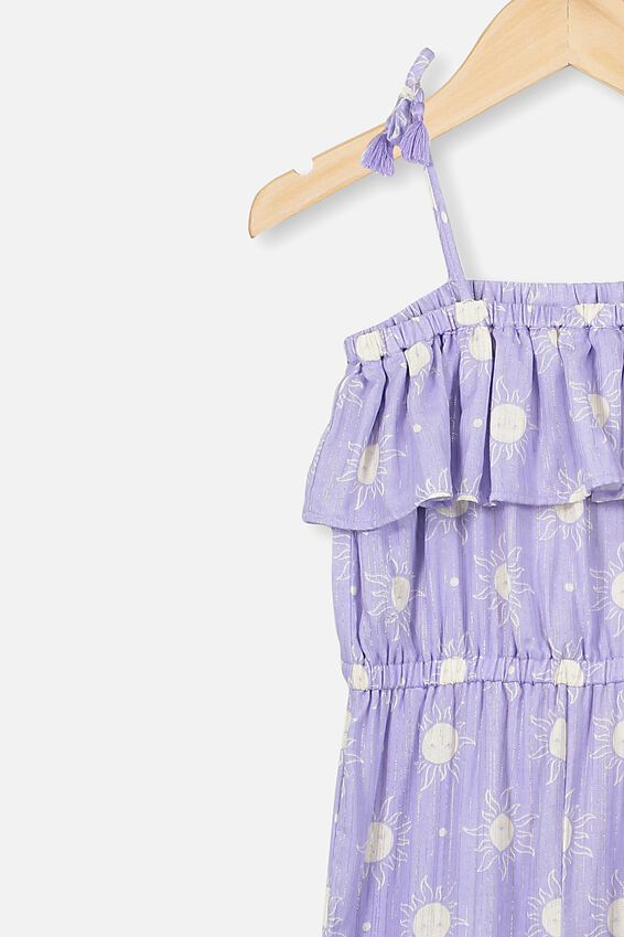 Pascal Jumpsuit, SMOKEY LILAC/SUNNY FACES