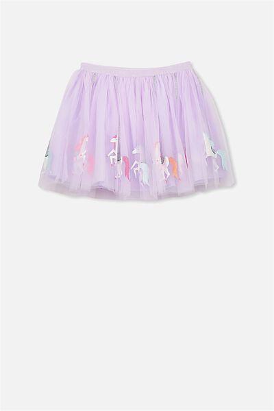 Trixiebelle Tulle Skirt, PALE TOPAZ/UNICORN CAROUSEL