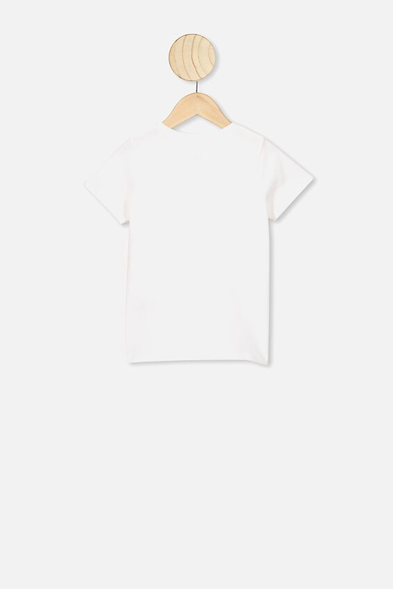 Penelope Short Sleeve Tee, VANILLA WATERCOLOUR RAINBOW