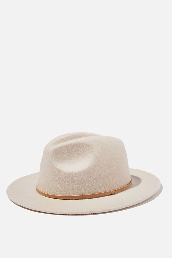 Wide Brim Hat, WASHED STONE PU