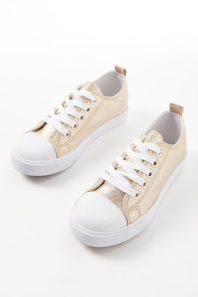 Metallic Classic Trainer, GOLD