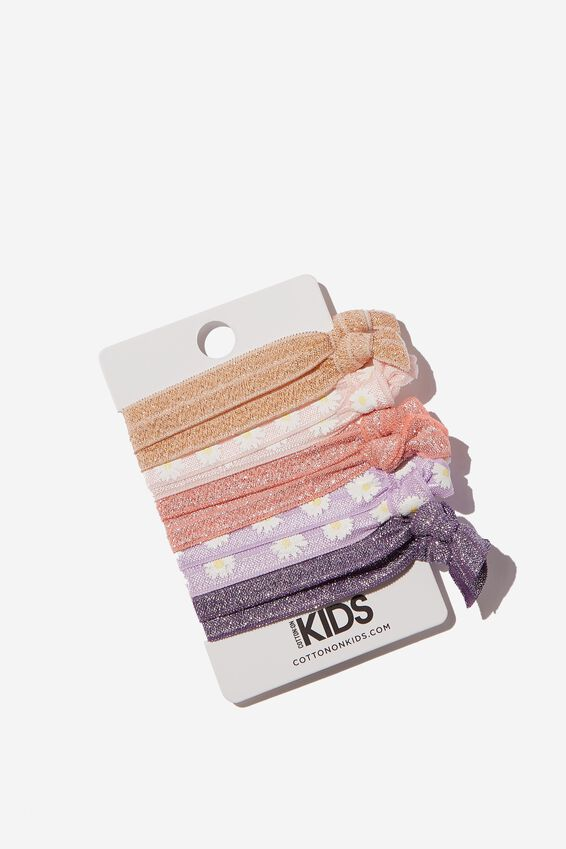 Knot Messy Hair Ties, SHIMMER FLORAL