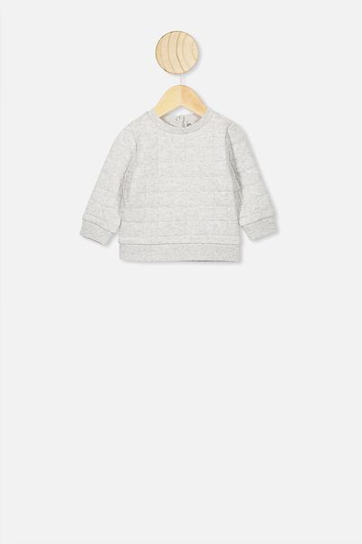 Scout Quilted Sweater, CLOUD MARLE1