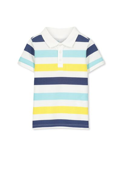 Kenny3 Polo, BLUE/MULTI STRIPE