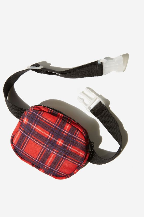 Fashion Belt Bag, RALLY RED/CHECK