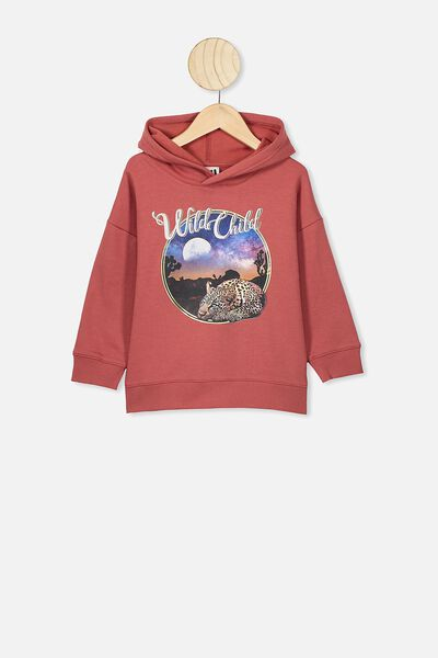 Scarlett Hoodie, RED BRICK/WILD CHILD LEOPARD