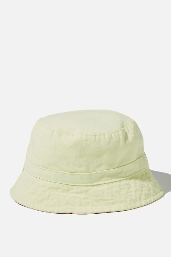 Reversible Bucket Hat, LEMON DROP
