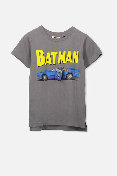 Short Sleeve License Tee, LT GRAPHITE/BATMOBILE
