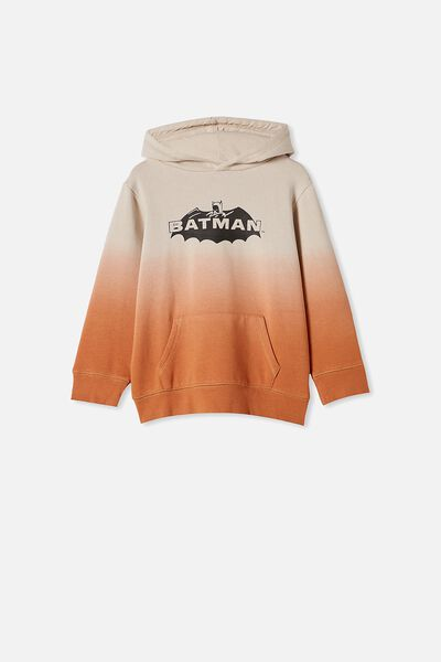 License Hoodie, LCN WB BATMAN/AMBER BROWN DIP DYE