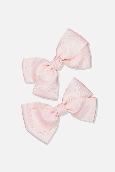 Big Bow Clips, PINK 2PK