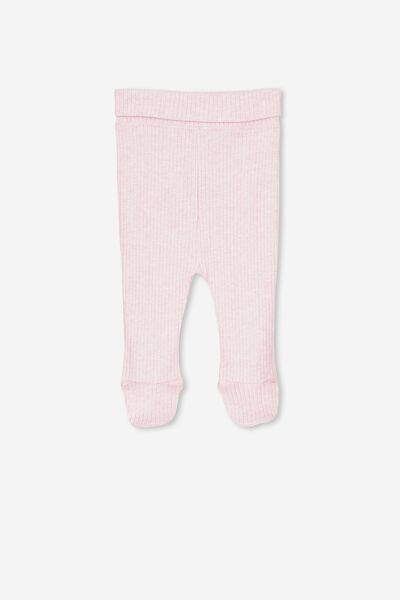 The Footed Rib Legging, PINK MARLE