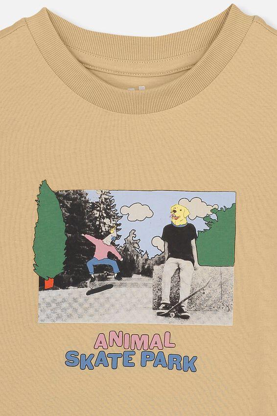 Max Skater Short Sleeve Tee, ANIMAL SKATE PARK/SEMOLINA
