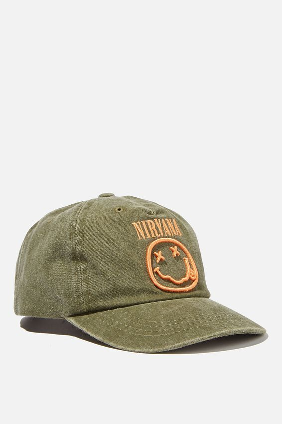 Nirvana Baseball Cap, LCN MT NIRVANA SILVER SAGE WASH