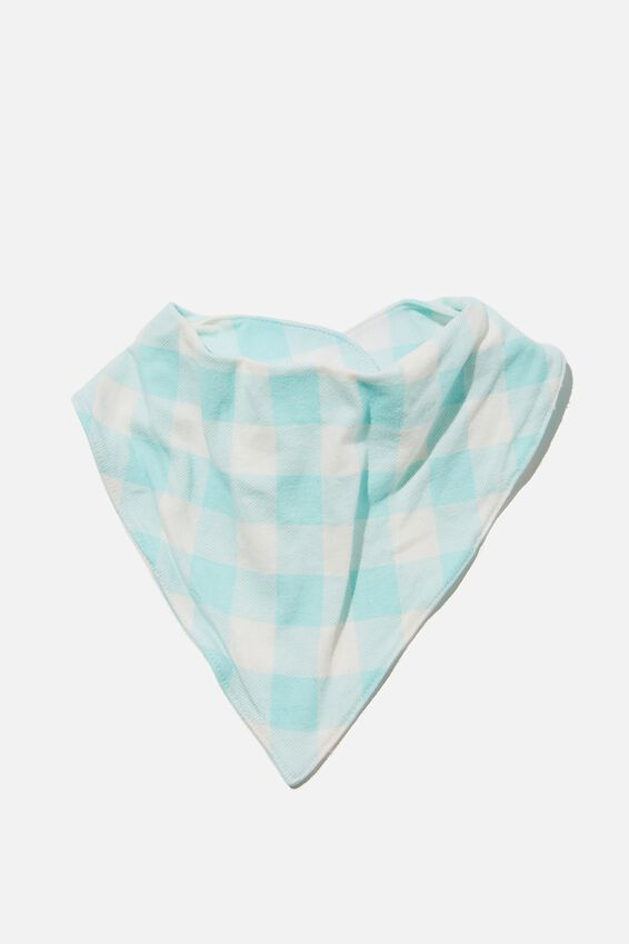 The Bandana Bib, DREAM BLUE/VANILLA MAXI GINGHAM