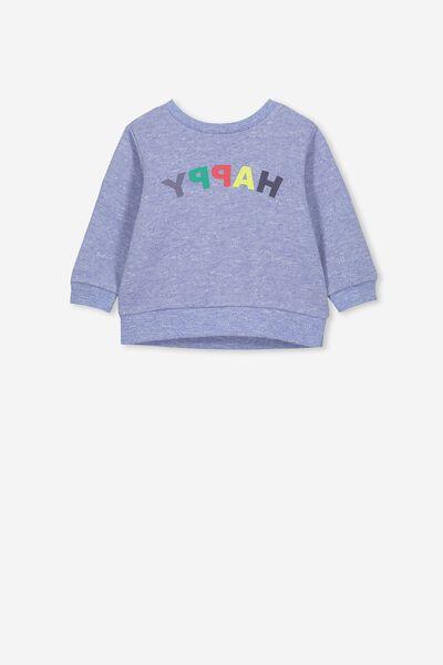 Billie Sweater, SCUBA BLUE/HAPPY