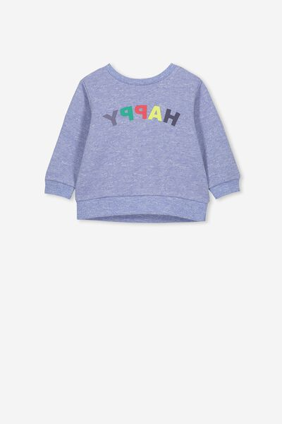 Billie Sweater, SCUBA BLUE/HAPPY