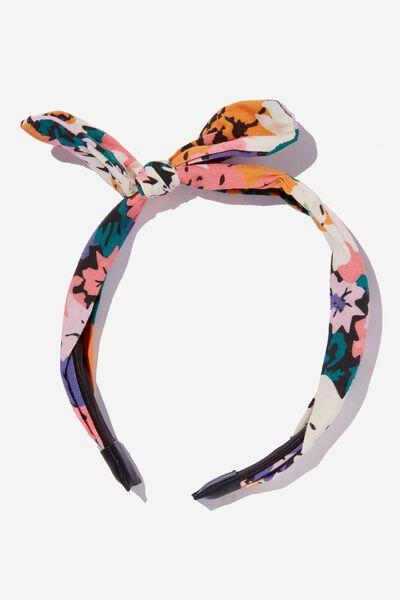 Headband - Fashion, INDIGO FLORAL