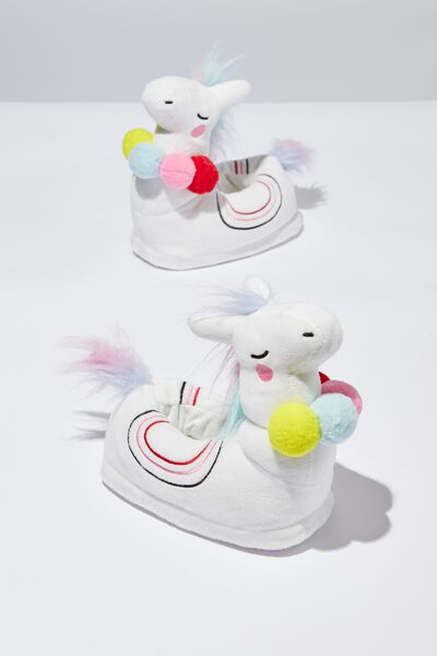 New Novelty Slipper, LLAMACORN