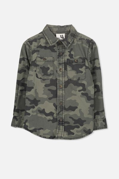 Noah Long Sleeve Shirt, CAMO