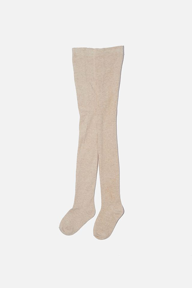 Solid Tights, OATMEAL MARLE