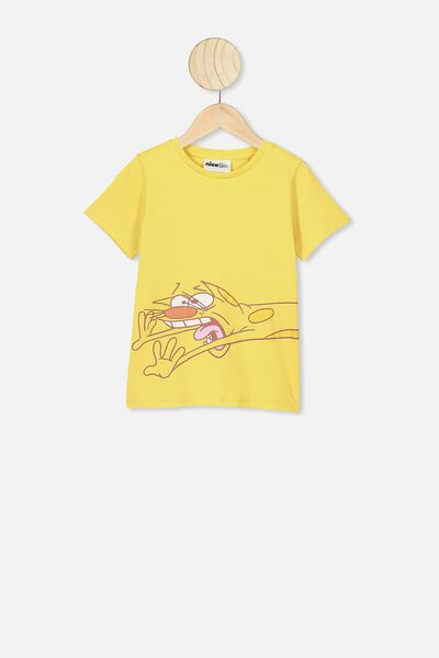 Lux Short Sleeve Tee, LCN NIC CORN SILK/CAT DOG/MAX