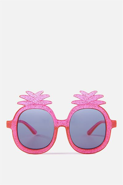 Kids Pineapple Sunglasses, PINK GLITTER
