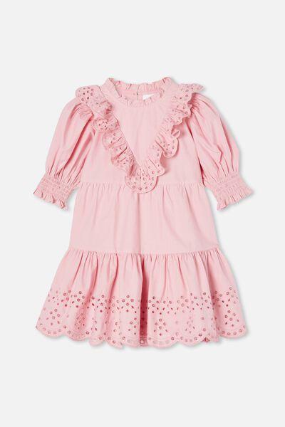 Magnolia Short Sleeve Dress, MARSHMALLOW