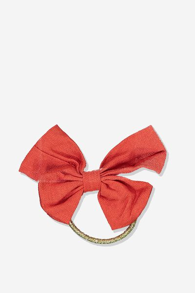Bow Hair Tie, ENGINE RED