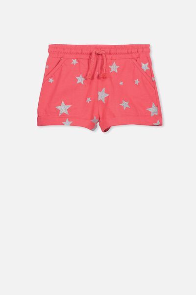 Nila Knit Short, CAYENNE RED/IRRIDESCENT STAR