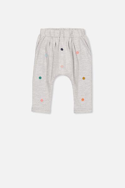 Alison Mini Pant, CLOUD MARLE/POM POM
