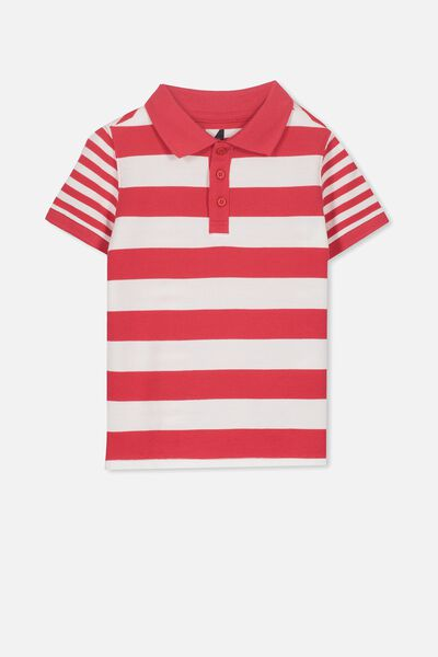 Kenny 3  Polo, SOPHIE RED STRIPES