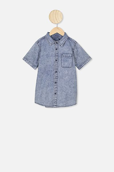 Resort Short Sleeve Shirt, DNM WASH