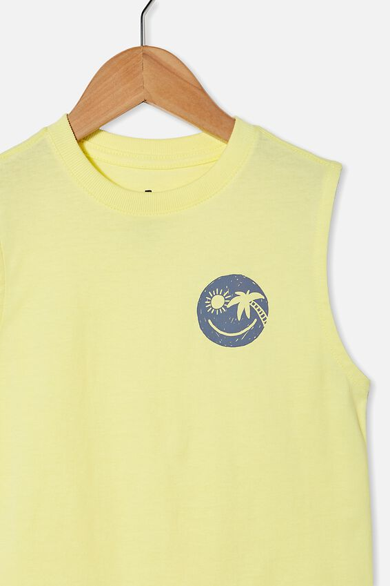 Otis Muscle Tank, LEMONADE/SMILE FACE