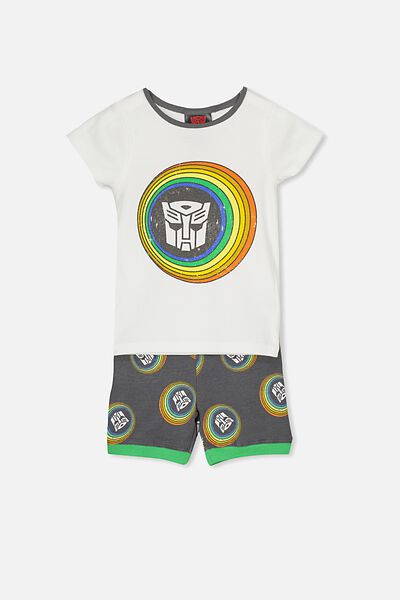 Joshua Short Sleeve Pyjama Set, LCN TRANSFORMER FACES