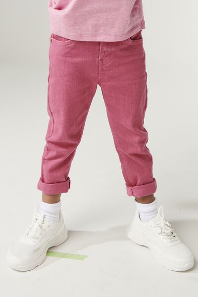 Indie Slouch Jean, CARMINE PINK