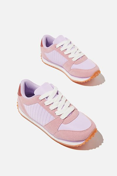 Retro Trainer Splice, MARSHMALLOW PINK MULTI