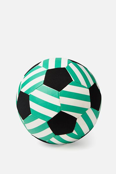 Kids Beach Soccer Ball, GREEN STRIPE