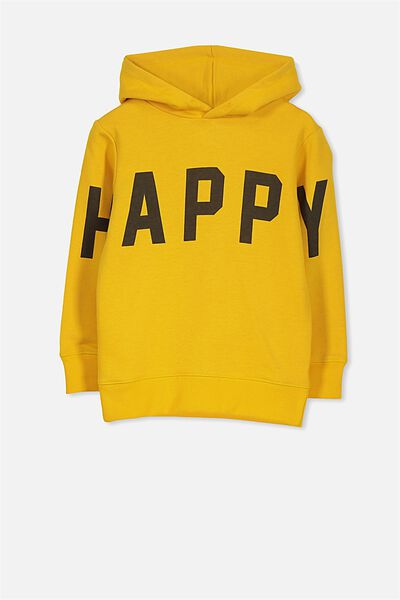 Liam Hoodie, GOLDEN YELLOW/HAPPY