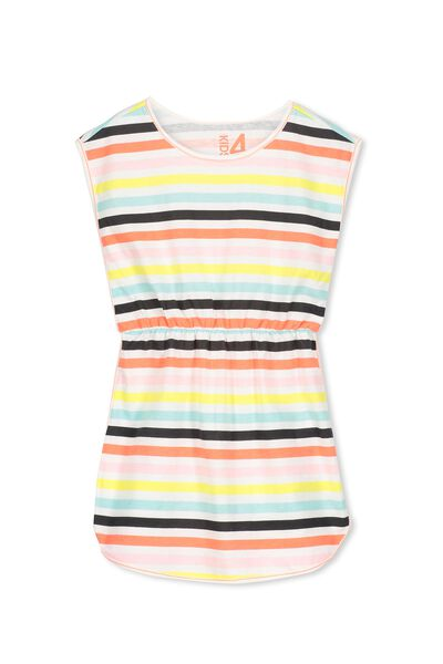 Marley Dress, VANILLA/STH STRIPE