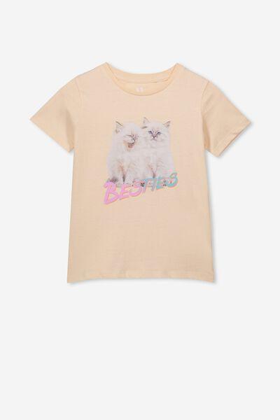 Penelope Short Sleeve Tee, PINK CHAMPAGNE/BESTIES CATS/MAX