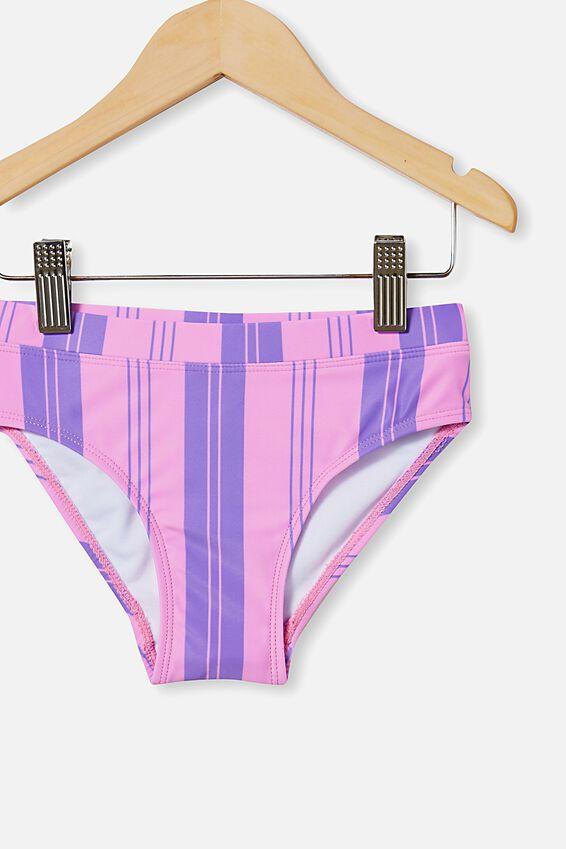 Pippa Bikini Bottom, PURPLE PARADISE/VERTICAL STRIPE