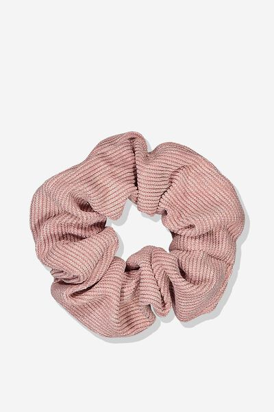 Scrunchie, DUSTY PINK SPARKLE/CORD