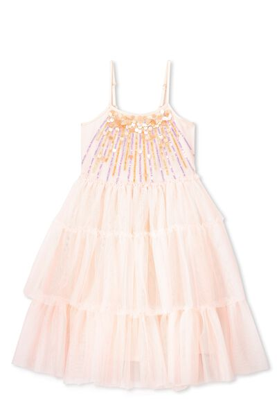 Bella Tulle Dress, WINTER PINK/SUN SPANGLED